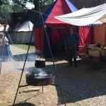 Unser Lager in Amberg. Peter hat schon mal eingeheizt.