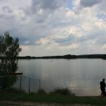 Diese Aussicht durften wir drei Tage lang genießen: Der See lag praktisch direkt vor unserer 'Haustür'.
