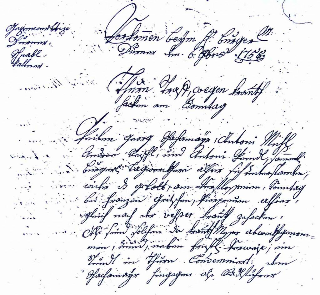 Ratsprotokoll 1758-gr