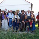 Die Rotte vor der Bauernkriegsgedächtniskirche